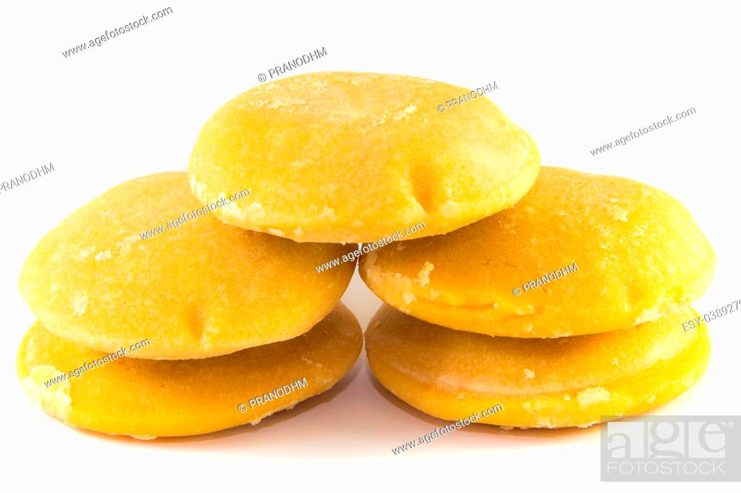 Photo de stock: Palm sugar on white background.