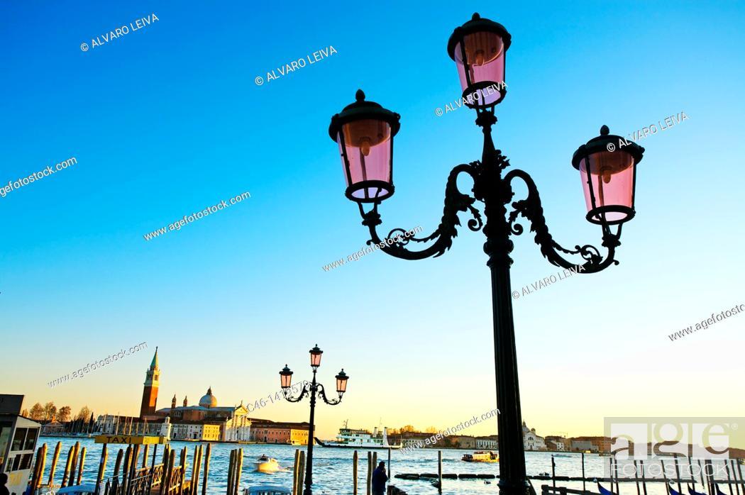 Stock Photo: San Giorgio Maggiore church  Venice  Veneto, Italy.