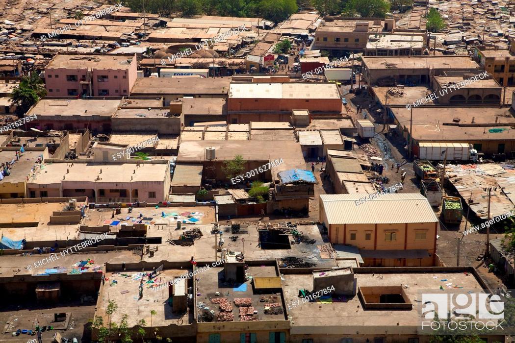 Stock Photo: View of Bamako the city.