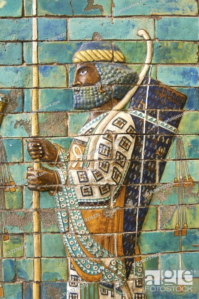 Imagen: ancient persian; relief panels; Ancient Persian; ancient persian art; Ancient Persian sculptures; tile panels; ceramic tiles; Ancient Persian ceramic tiles;.