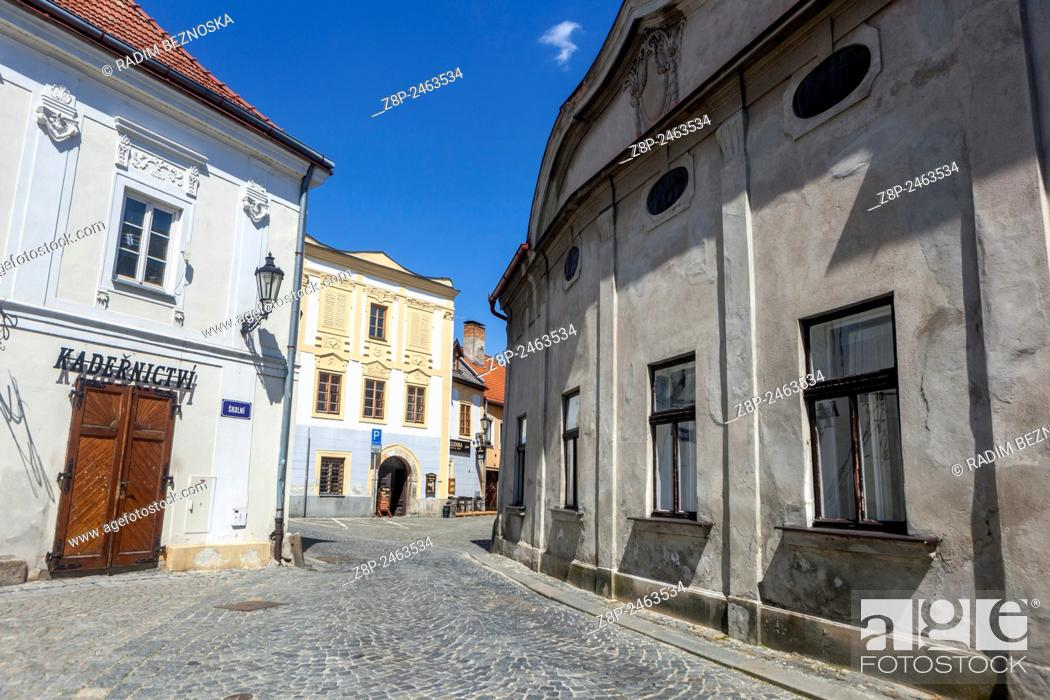 Imagen: Historic old town of Jindrichuv Hradec, South Bohemia, Czech Republic.