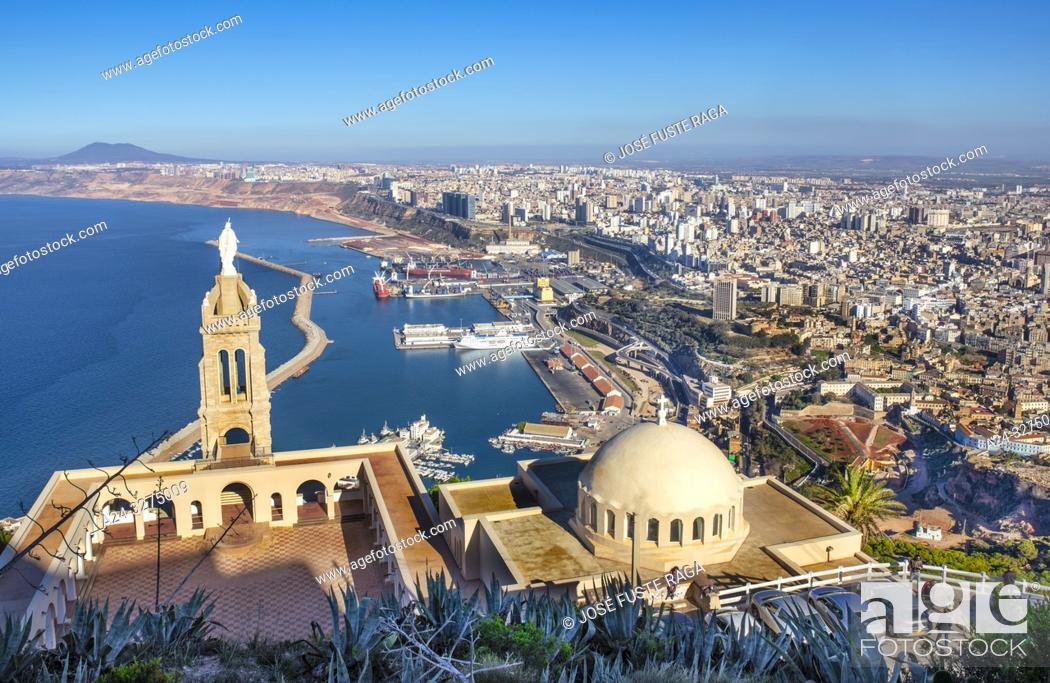 Stock Photo: Algeria, Oran City, panorama from Djebel Murdjadjo mountain.