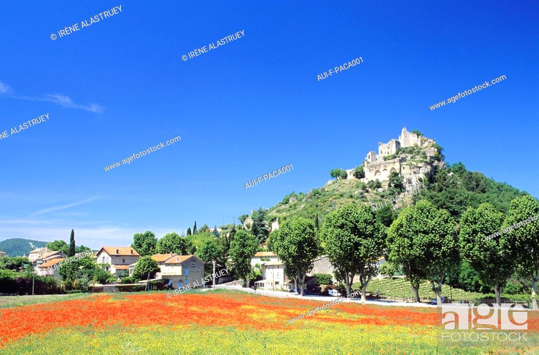 Stock Photo: Vaucluse - Comtat Venaissin - Entrechaux.