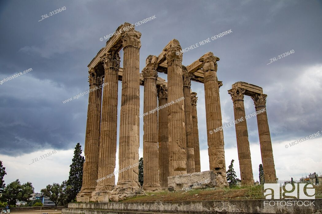 Imagen: Temple of Olympian Zeus in Athens Greece.