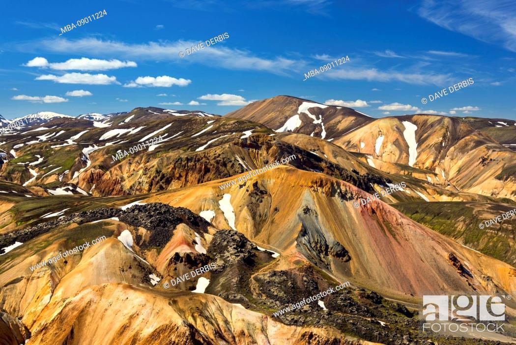 Stock Photo: Brennisteinsalda, Landmannalaugar, volcano, mountains, highlands, view, Iceland, Europe.
