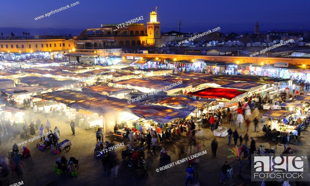 Stock Photo: Djemma El Fna Square, Marrakech, Morocco.