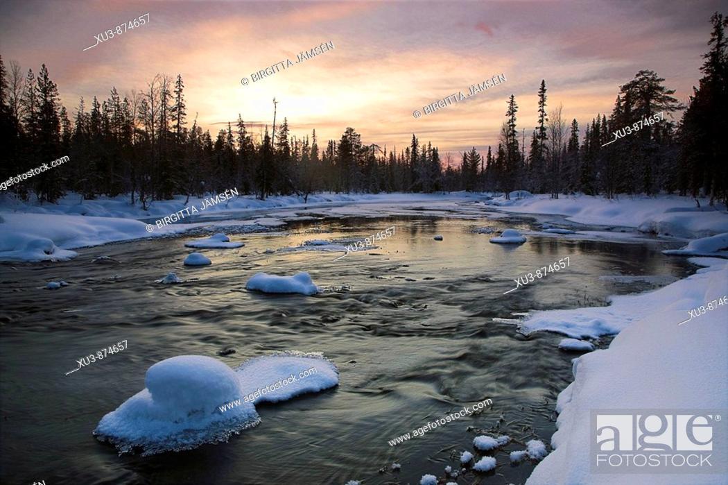 Stock Photo: Winter river in Finland.