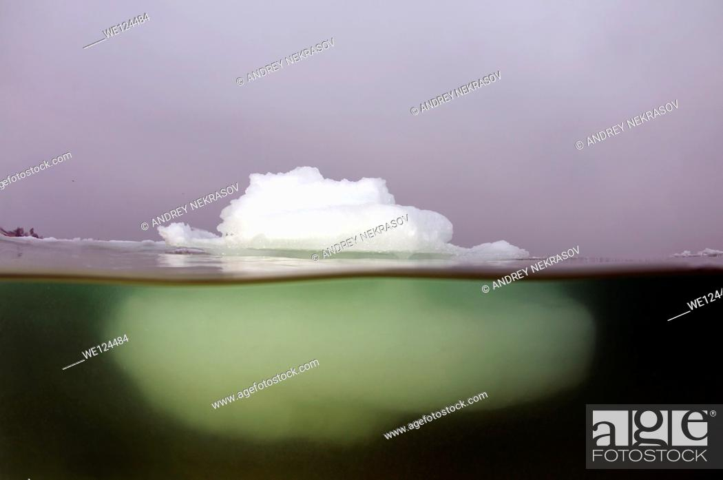 Stock Photo: Iceberg in the Black Sea, which was last frozen in 1977, Odessa, Ukraine, Eastern Europe.