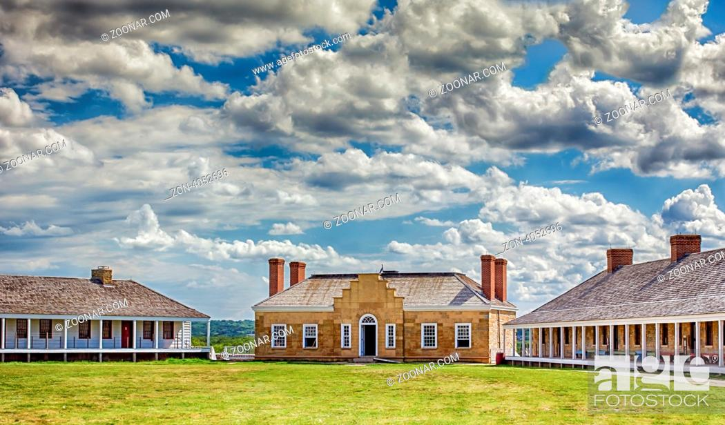 Stock Photo: Historic Fort Snelling in Minneapolis, Minnesota.