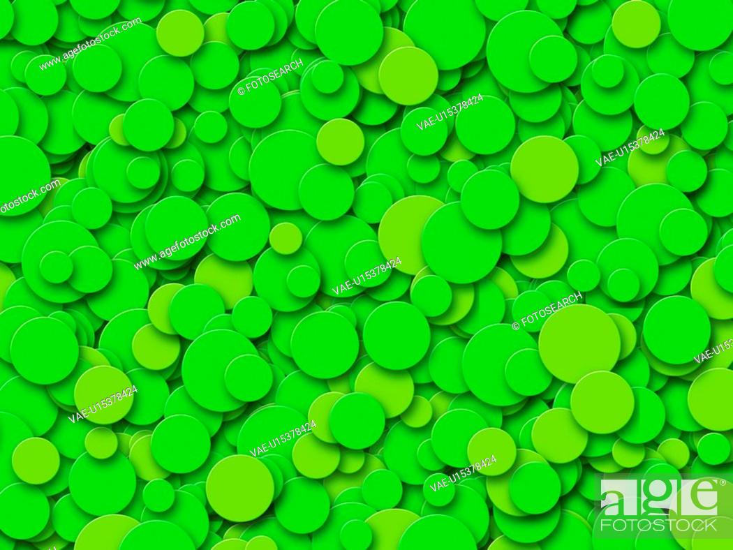 Stock Photo: Green Circles.