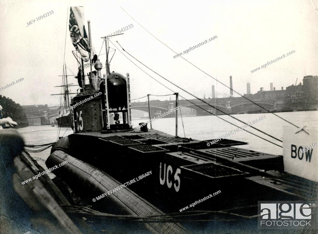 WW1 - UC-5 was a German Type UC minelayer submarine or U-boat in the