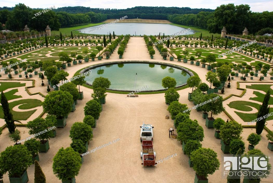Stock Photo: Orangery of Versailles Palace.