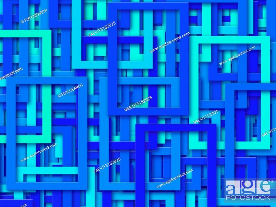 Stock Photo: Blue Rectangles.