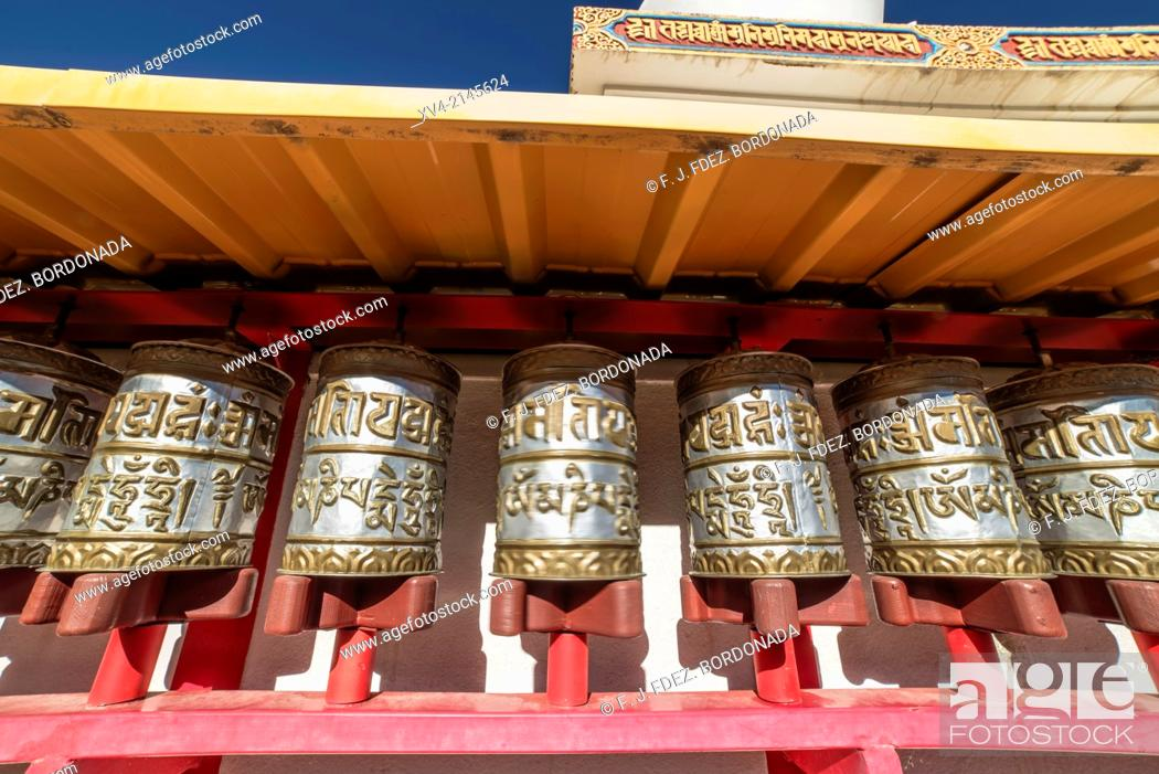 Stock Photo: Dag Shang Kagyü, Buddhism community center in Panillo, Huesca.