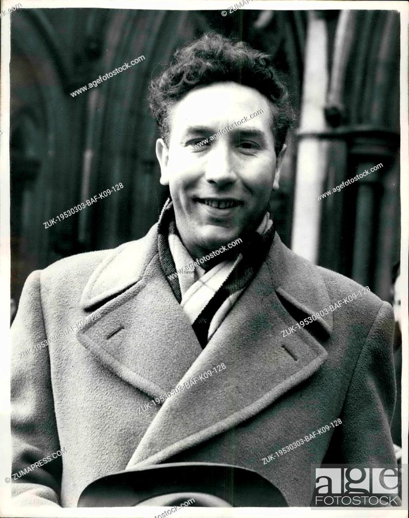 Stock Photo: Mar. 03, 1953 - Frankie Howard Award -5, 000 Against Jack Payne: Comedian Frankie Howard was awarded -5, 000 this afternoon at the High Court - when he won his.