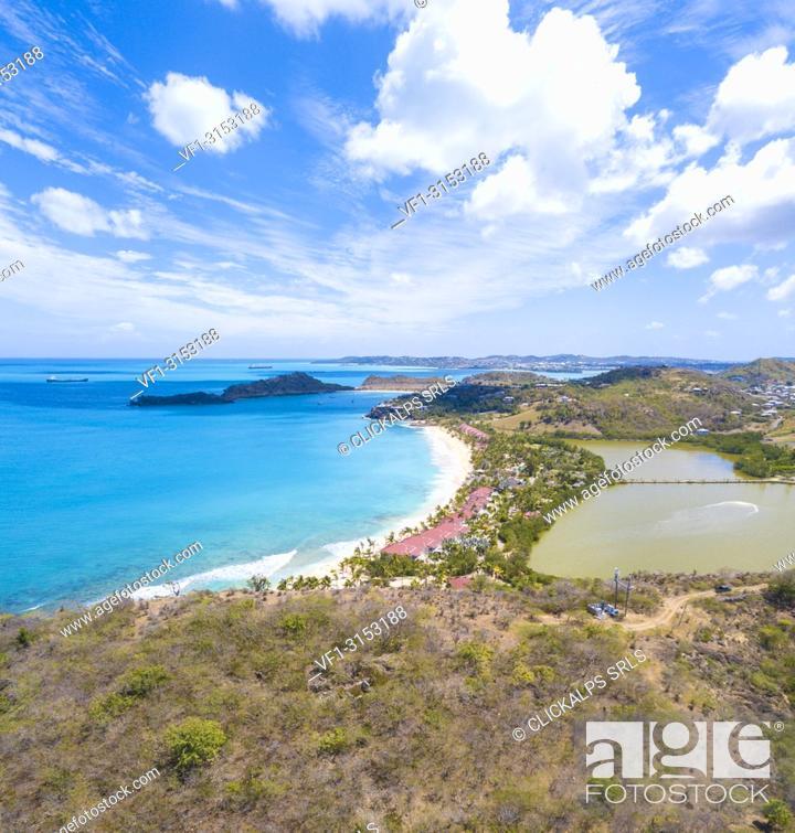 Panoramic Of Galley Bay Beach Antigua