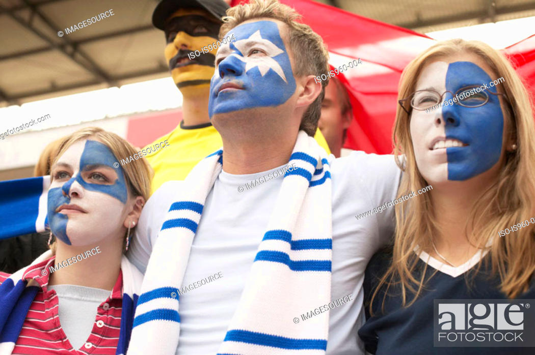 Stock Photo: Football supporters.