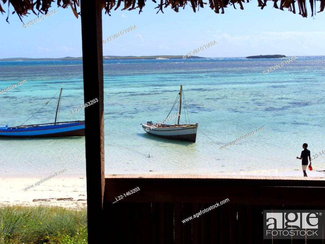 Stock Photo: Sailing in the Bay of Antsiranana (former Diego-Suarez), Diana region, Madagascar, Indian Ocean.