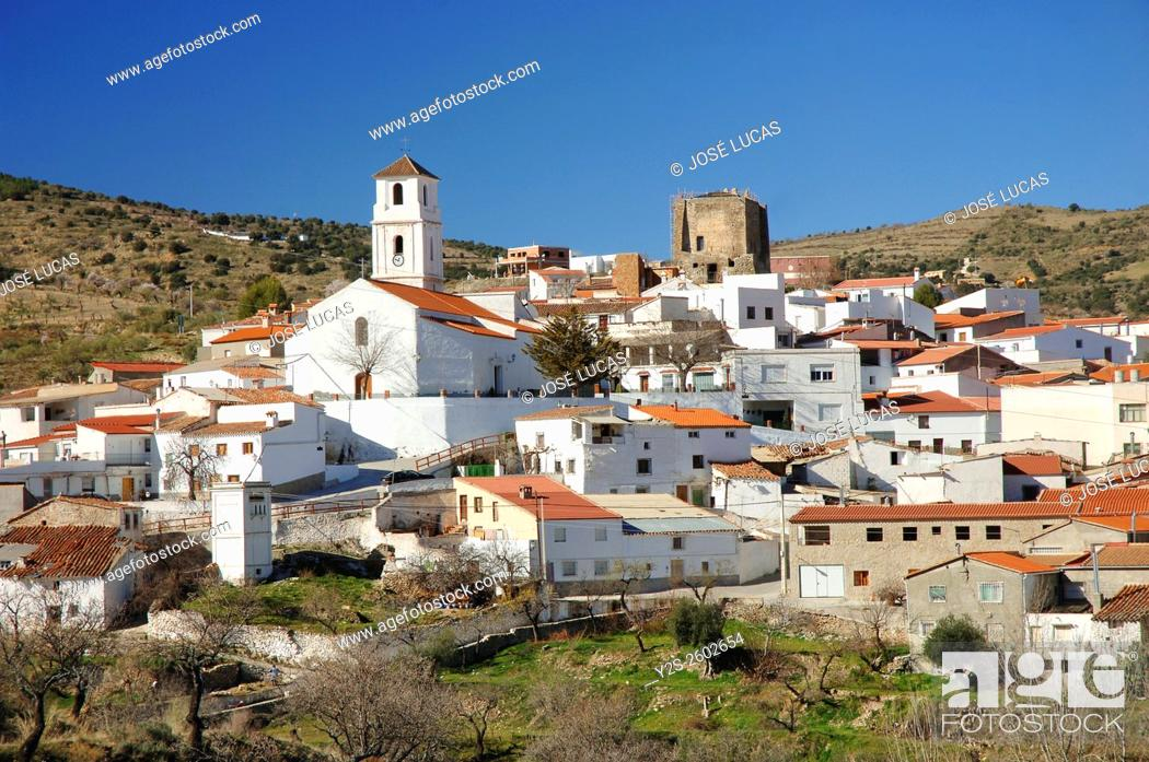 Stock Photo: Tahal, Mountain range of the Filabres, Almeria province, Region of Andalusia, Spain, Europe.