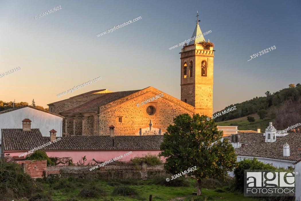 Stock Photo: St. Martin Church. Almonaster la Real. Huelva. Spain.