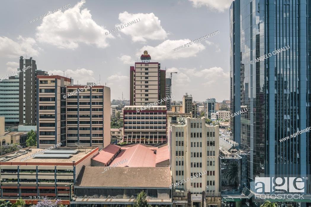Photo de stock: Africa. Kenya. Nairobi, Modern buildings downtown Nairobi.