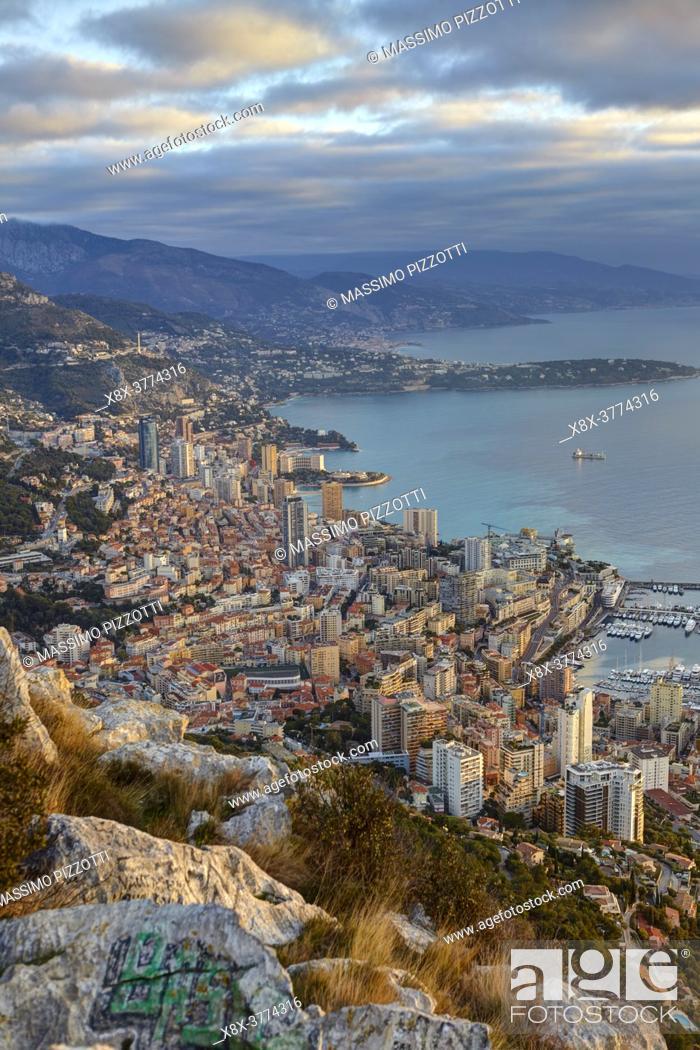 Imagen: View of Montecarlo from the Tete de Chien, Principality of Monaco.