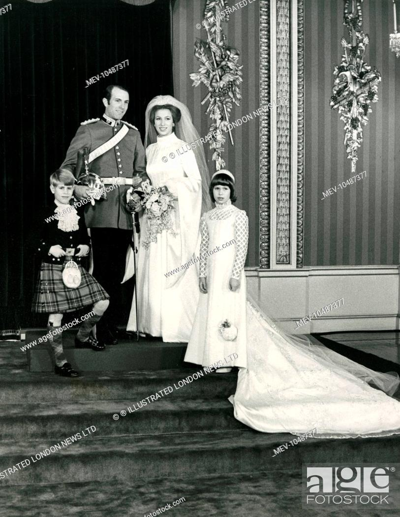 Stock Photo Wedding Of Princess Anne The Royal To Captain Mark Phillips At