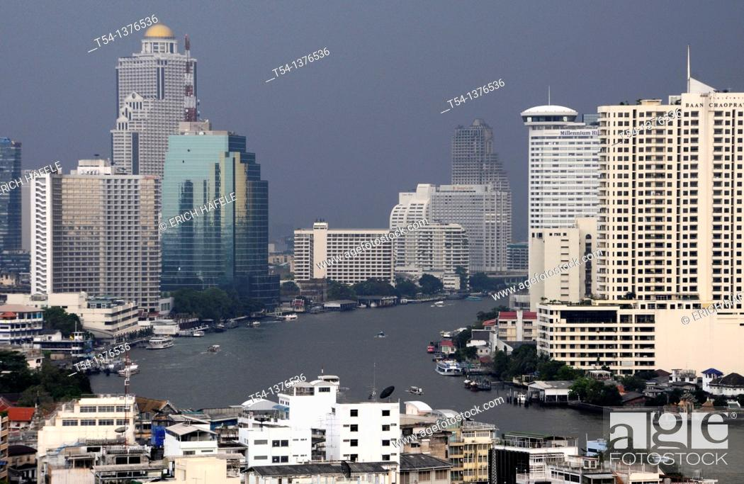 Stock Photo: Black Clouds over Bangkok.
