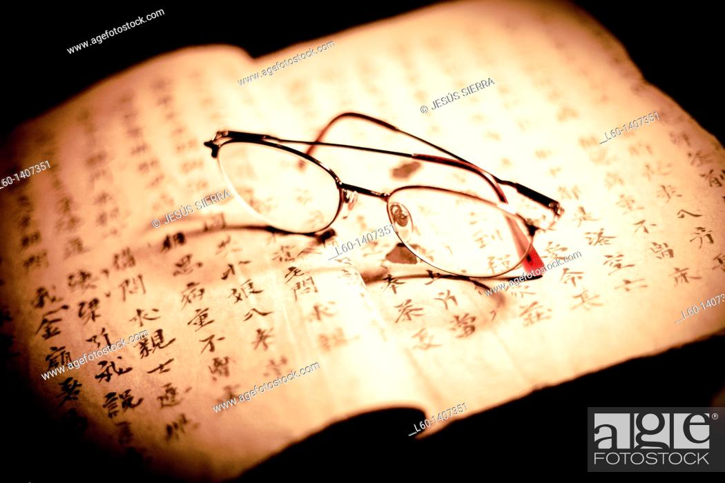 Stock Photo: Book and Glasses.