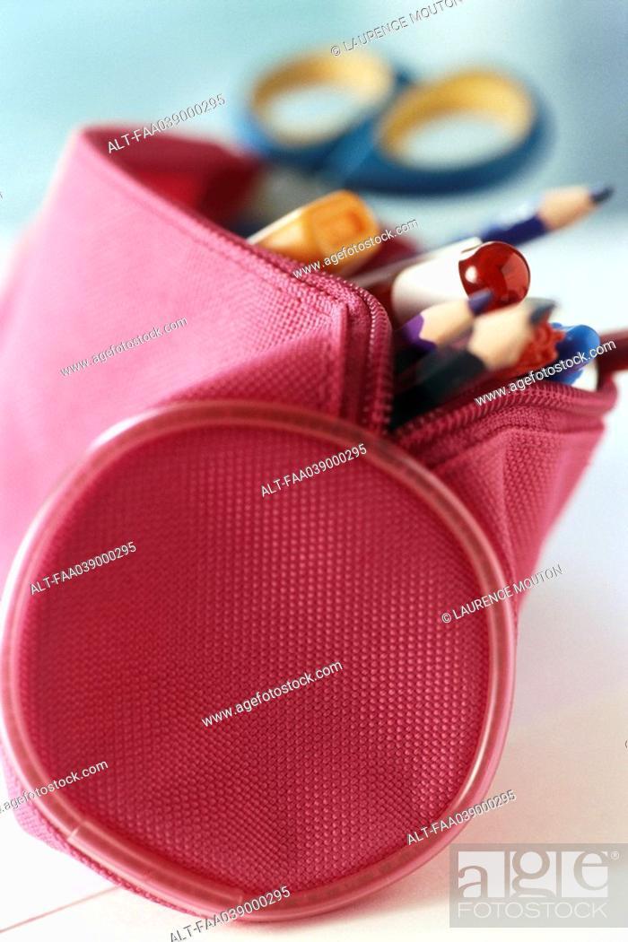 Stock Photo: Pencil case.