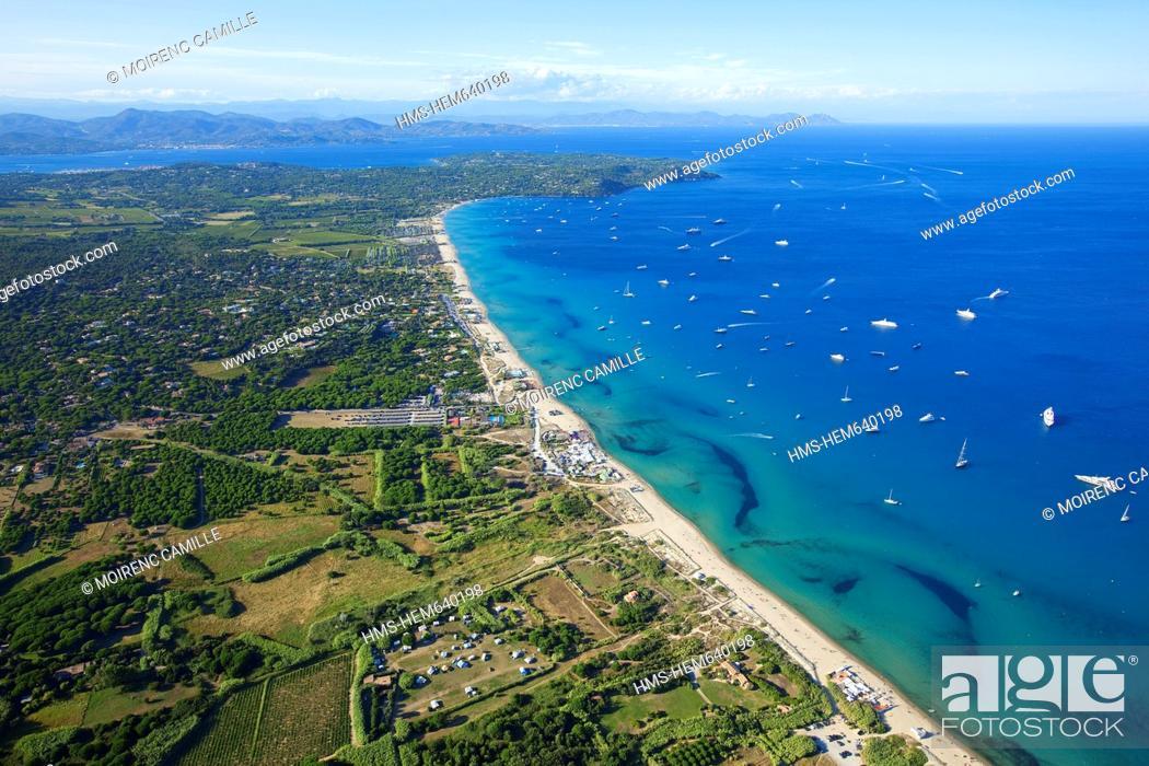 France Var Peninsula Of Saint Tropez Ramatuelle Pampelonne Beach