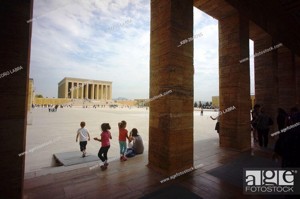 Stock Photo: Ataturk Mausoleum. Ankara. Turkey.