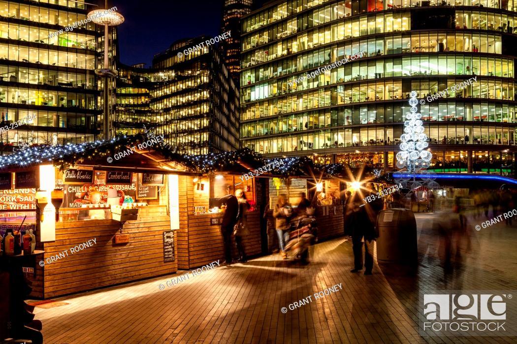 Stock Photo: More London Christmas Market, London, England.