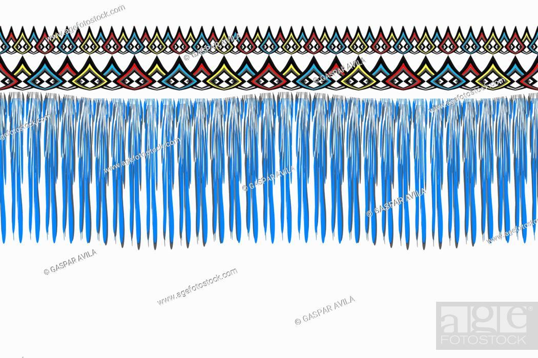Stock Vector: Blue threads pattern. Geometric graphic design.
