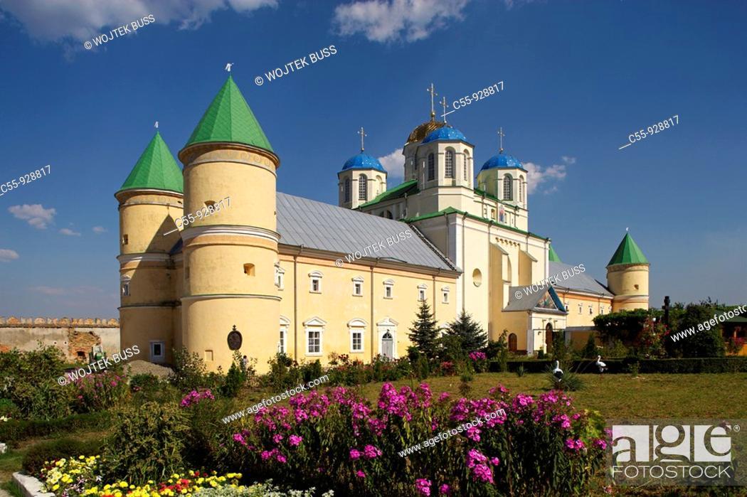 Stock Photo: Mezhyrich,Miedzyrzecz Ostrogski,Franciscan Monastery,15th-20th century,Holy Trinity Church,Rivne Oblast,Western Ukraine.