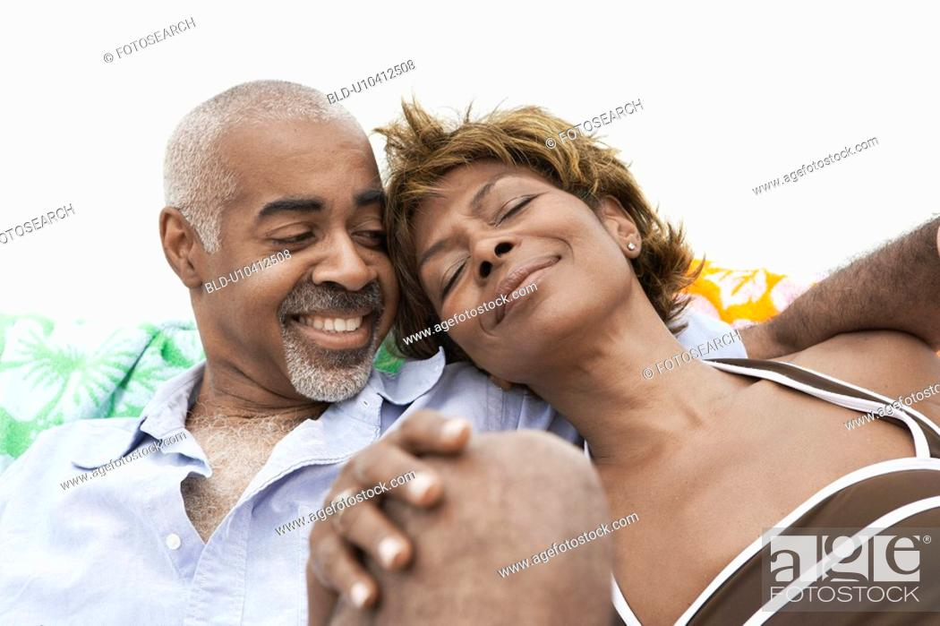 Stock Photo: Mature couple relaxing.