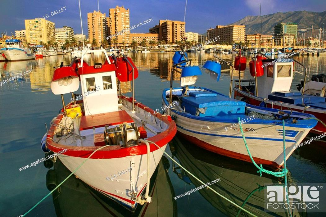 Stock Photo: Fishing harbour and tourist resort of Fuengirola on the Costa del Sol. Malaga province, Andalusia, Spain.