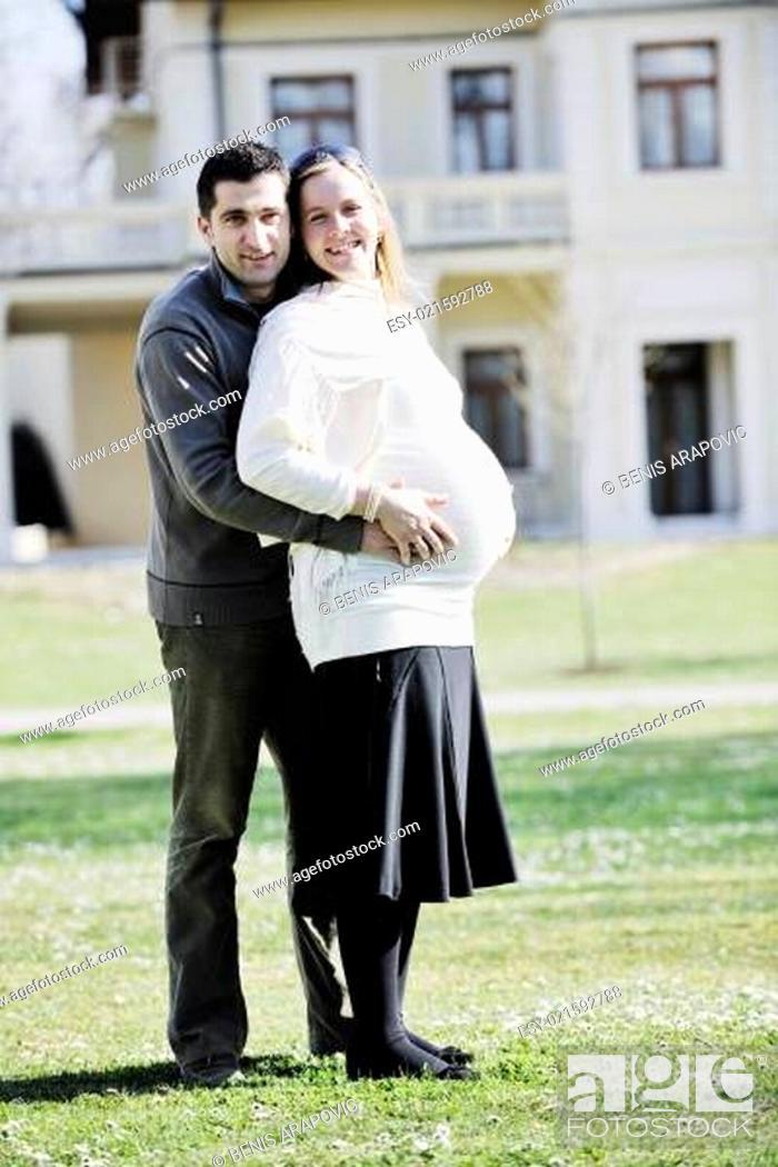 Stock Photo: happy pregnancy.