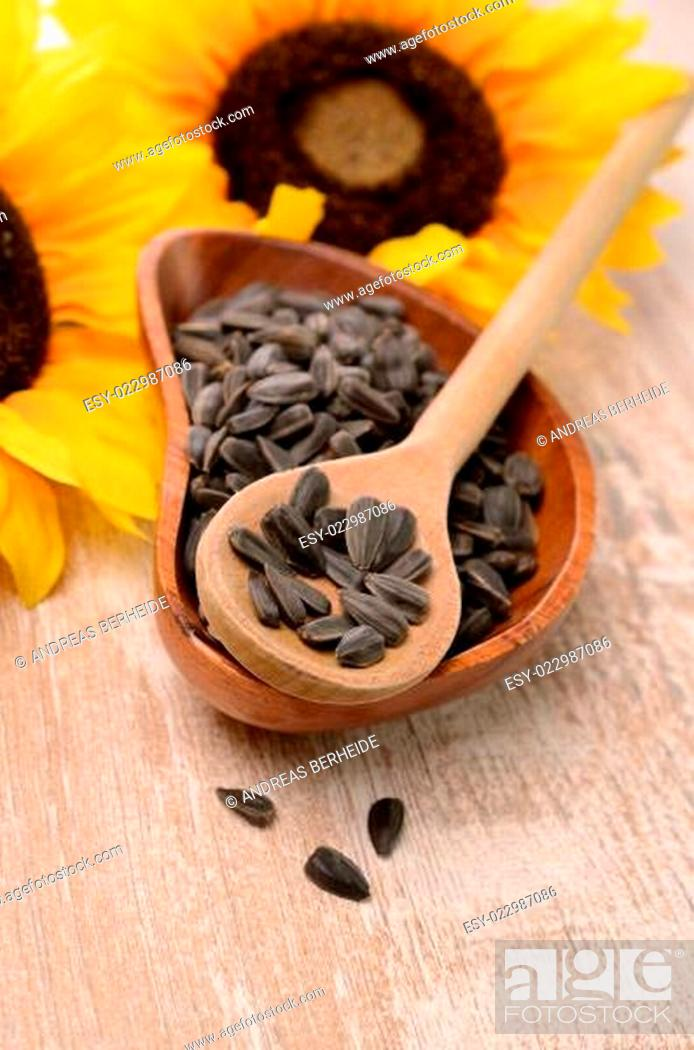 Stock Photo: Sunflower seeds.