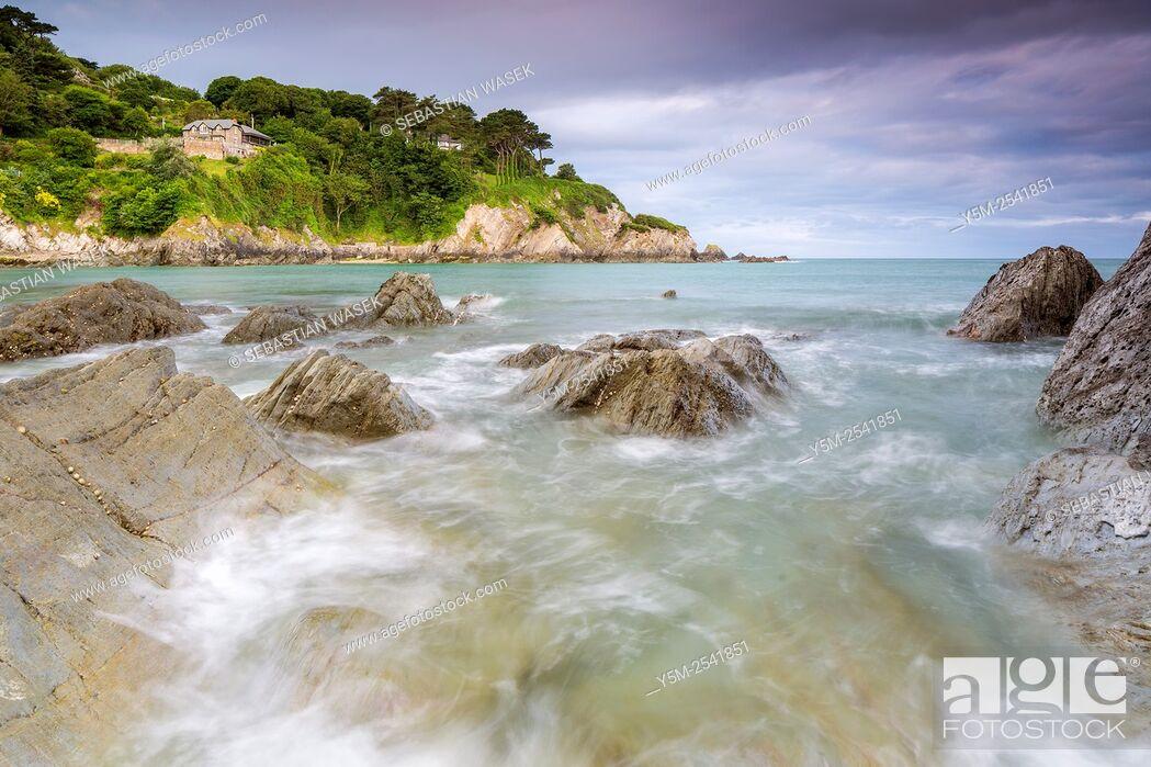Stock Photo: Lee Bay, North Devon, England, United Kingdom, Europe.