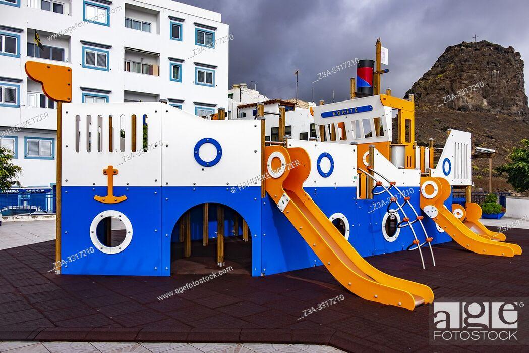 Stock Photo: Playground boat in Agaeta, Gran Canaria.