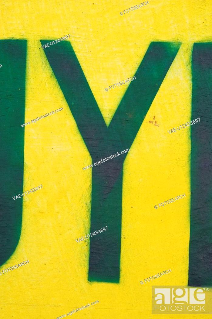 Stock Photo: Artistic, Letter, Appearance, Texture, Shape, Alphabet.