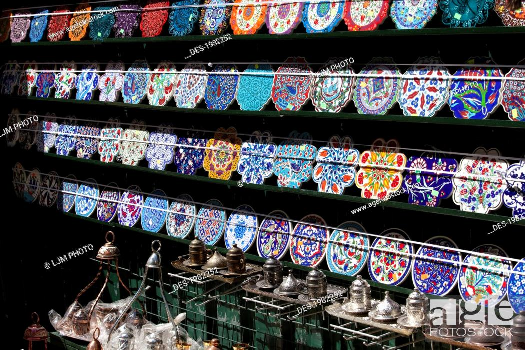 Stock Photo - decorative plates and souvenirs for sale in taksim square istanbul turkey & decorative plates and souvenirs for sale in taksim square istanbul ...