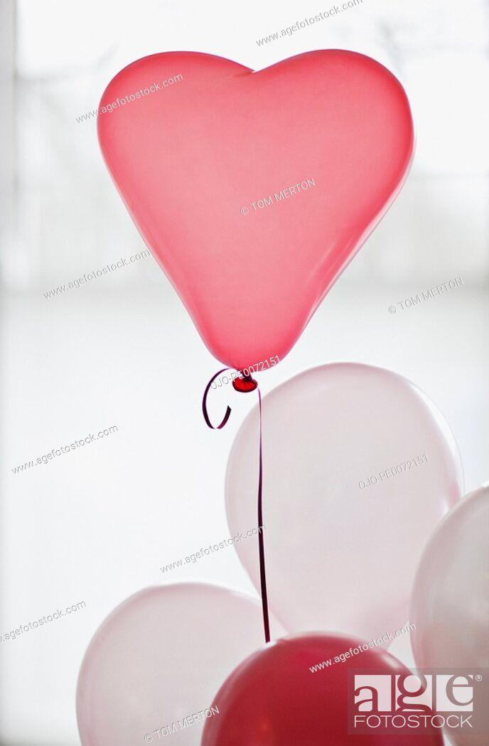 Stock Photo: Heart-shape balloon.