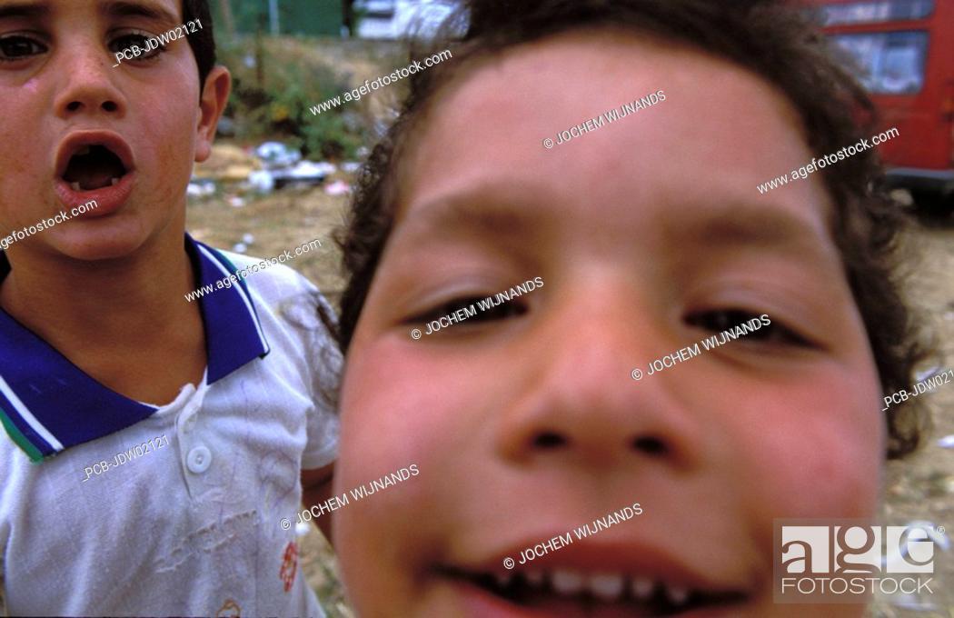 Stock Photo: Jerez de la Frontera, gypsy children at the Feria del caballo.