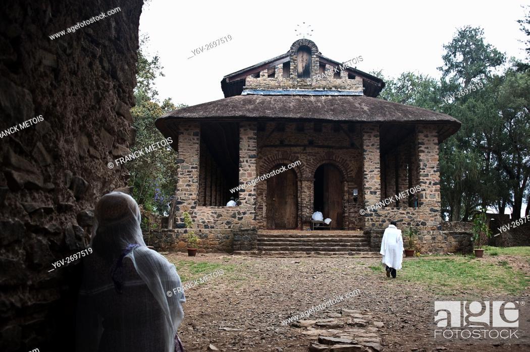 Stock Photo: Debre berhan selassie church at Gonder ( Amhara state, Ethiopia).