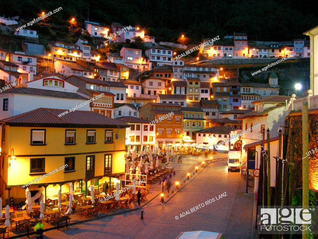 Stock Photo: Cudillero Fishermen Village Principality Asturias Spain.