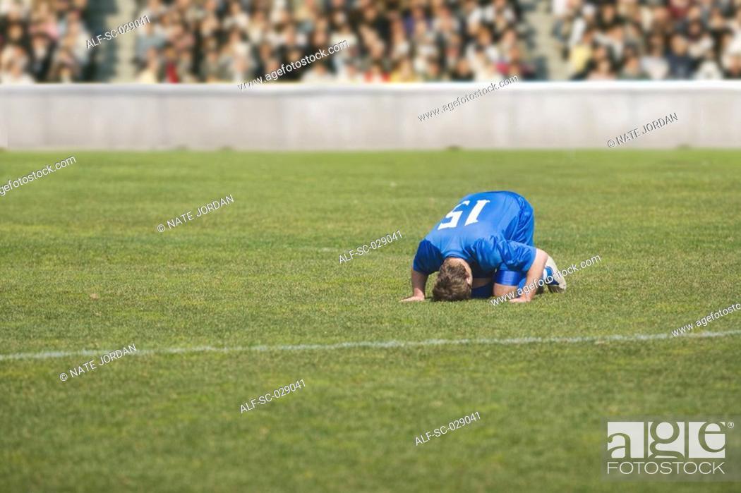 Stock Photo: Injured Soccer Player.