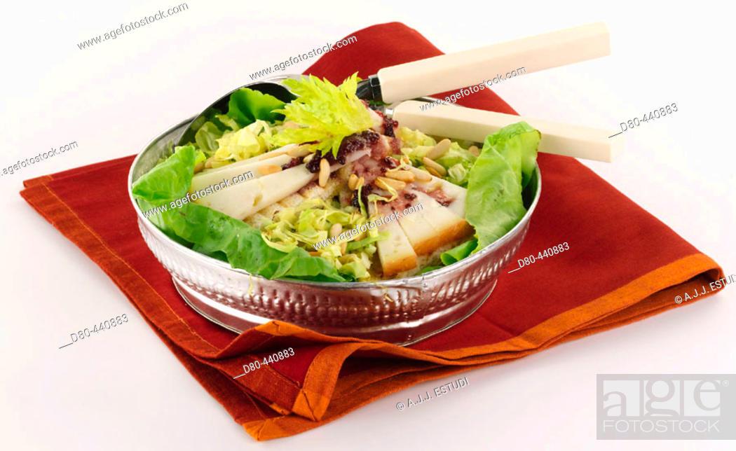 Stock Photo: Warm salad.