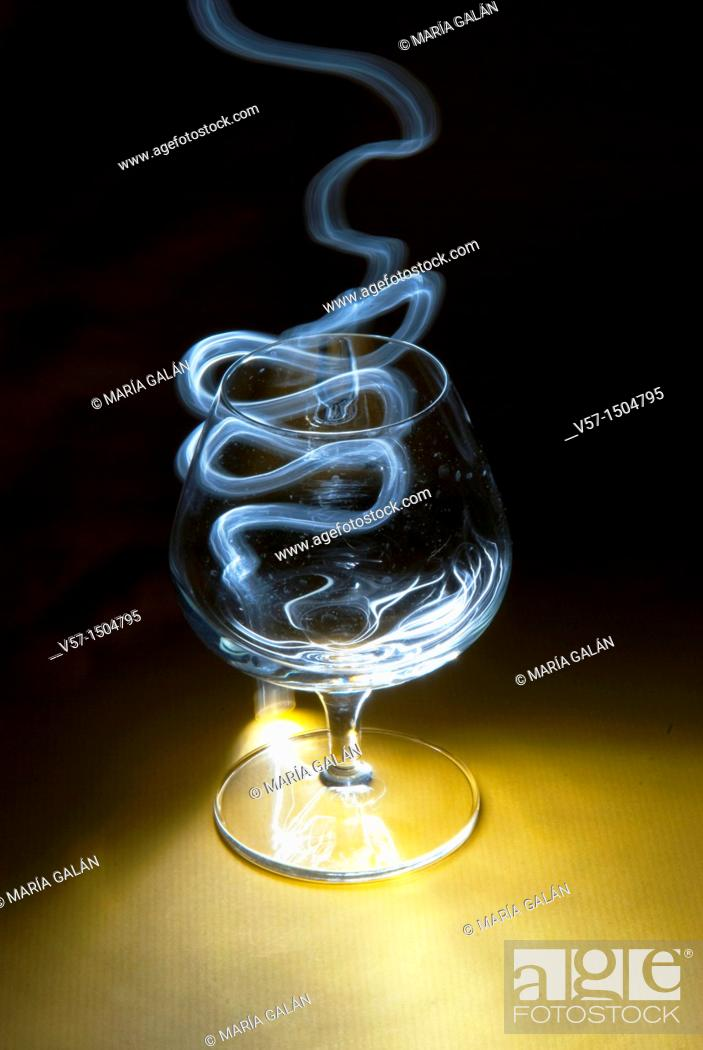Stock Photo: Light-painting with a glass.